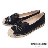 Tino Bellini 俏皮動物造型麻編休閒鞋_ 黑 A83082