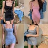 性感洋裝修身緊身性感包臀洋裝女夏季吊帶氣質短裙新款法式小眾裙子【快速出貨八折下殺】