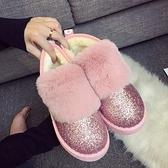 低筒雪靴-時尚潮流舒適保暖女厚底靴子3色73kg22【巴黎精品】