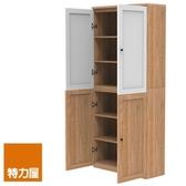 組-特力屋萊特高寬淺木櫃.淺木層板(1入x8).淺木門(x2).白色門(x2)