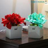仿真花假花陶瓷花瓶居家飾品擺設【洛麗的雜貨鋪】