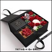 禮物 秘密花園香皂花+手工皂方型禮盒(鍾情紅) 情人節禮物 母親節禮物 教師節禮物 生日禮物