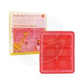 朴蜜兒 韓國BabyJoy鉑金矽膠副食品製冰盒 - 6格款【佳兒園婦幼館】