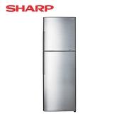[SHARP 夏普]315公升 日本變頻技術雙門電冰箱-光耀銀 SJ-GX32-SL【加贈 東元14吋DC風扇XA1405BRD】