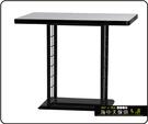 {{ 海中天休閒傢俱廣場 }} C-99 摩登時尚 餐桌系列 456-49 3X3尺美耐板餐桌/烤黑/烤銀腳(顏色可挑選)