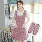 圍裙 韓版純棉公主圍裙廚房做飯家用防水防油可愛日系圍腰工作女時尚夏 寶貝計畫 618狂歡