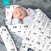 初生嬰兒包被夏天薄款新生兒小被子紗布寶寶襁褓抱被純棉春秋四季 幸福第一站