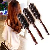家用木質排骨梳美髮背頭梳造型梳按摩梳卷髮梳內扣圓滾梳子 雙十二全館免運