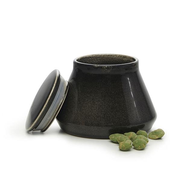 瑞典sagaform Nature復古黑釉彩密封罐-小