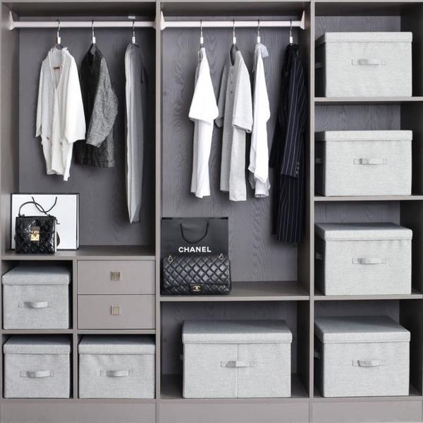 收納箱布藝衣櫃收納盒家用大號裝衣服整理箱衣物儲物箱可摺疊箱子 「顯示免運」