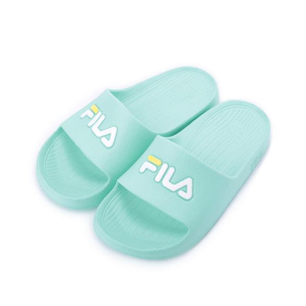 FILA 一體成型套式拖鞋 粉綠 4S355R-666 女鞋 鞋全家福