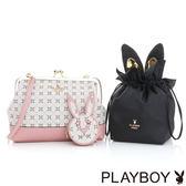 PLAYBOY- 口金斜背包 夢幻兔 Dream系列-甜美粉