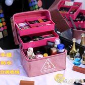 大容量化妝箱化妝品收納包防潑水韓國便攜大號手提化妝包專業多層  嬌糖小屋