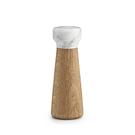 Normann Copenhagen Craft 大理石 粗鹽 /胡椒研磨罐 小尺寸(鹽罐 - 淺色橡木 + 白色大理石)