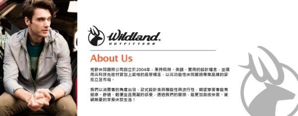 荒野Wildland品牌 彈性印花U領時尚保暖上衣 (0A62635-54 黑色) 女