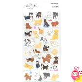 Hamee 日本製 WAN.T 可愛狗狗 金箔和紙 造型貼紙 裝飾DIY (大型犬) KM06994