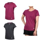 FIRESTAR 女彈性剪接圓領短袖T恤(慢跑 路跑 吸濕排汗 運動 免運 ≡排汗專家≡