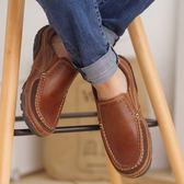 男士 簡約 真皮 休閒鞋/懶人鞋/工作鞋 咖《SV8777》快樂生活網