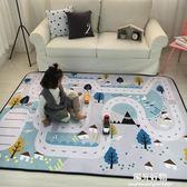 爬行墊秋冬加厚保暖絨兒童嬰兒客廳地墊爬爬墊遊戲家用防滑地毯 NMS陽光好物