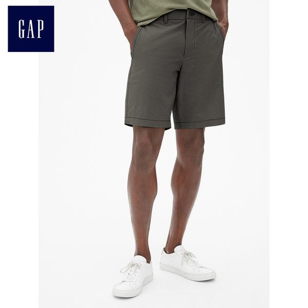 Gap男裝 簡約休閒工裝卡其短褲 459831-煙灰色