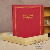 (中秋特惠)刺繡皮革7寸200張5R相冊插頁式插袋影集相簿家庭相冊本商務禮盒裝