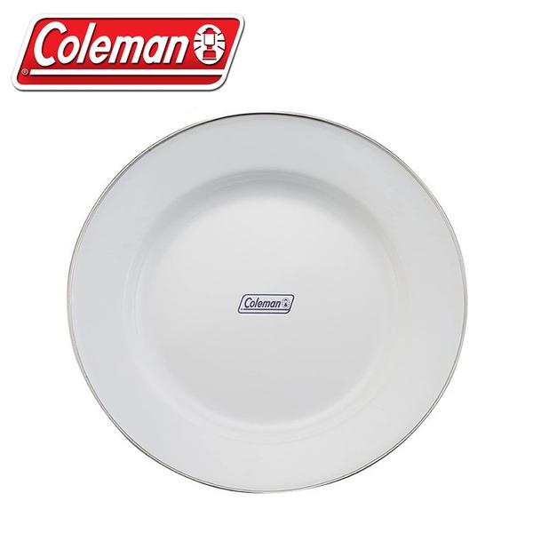【Coleman 美國 琺琅盤單入《白》】CM-32360/炊具/野炊餐具/露營/登山/盤子/料理盤