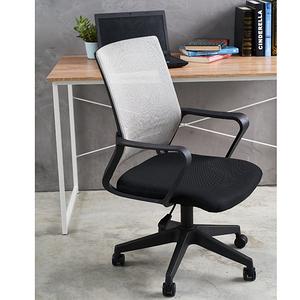 【久坐透氣推薦款】德瑞克3D貼合透氣坐墊+強韌網布大護腰低背電腦椅灰色網
