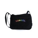 KANGOL 側背包 黑色 彩色LOGO 6055380020 noC27