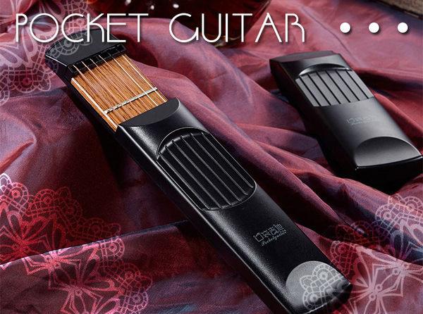 【小麥老師樂器館】口袋吉他 贈好禮 爬格子練習器 木吉他 4品格 吉他 木吉他 電吉他  【A48】
