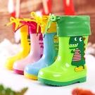 兒童雨鞋 童時雨恐龍兒童雨鞋防水防滑寶寶水鞋幼兒園學生水鞋可愛男童雨靴