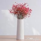 滿天星干花花瓶擺件創意家居客廳簡約白小清新陶瓷插花水培裝飾品 范思蓮恩