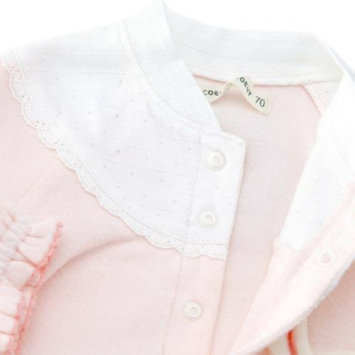 Japan Imports  假兩件長袖連身裝 - 白底/粉紅小兔 44055