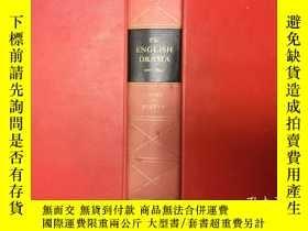 二手書博民逛書店The罕見English drama:An anthology,