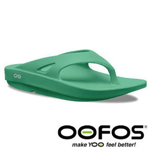 美國 OOFOS OOriginal 女舒壓 夾腳拖鞋-SGRN綠 人字拖 拖鞋 紓壓鞋 W1000