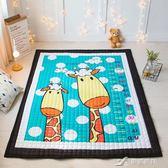 卡通家用磨毛棉質四季通用地墊客廳臥室兒童房地毯寶寶防滑爬爬墊 樂芙美鞋 YXS