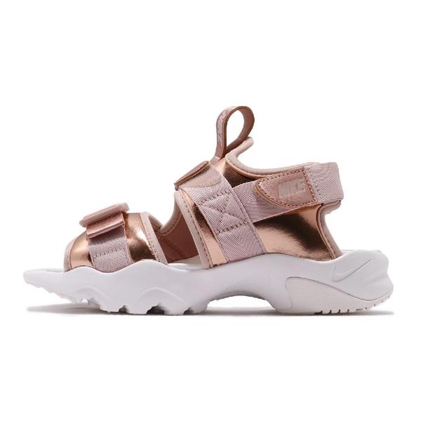 Nike 涼拖鞋 Wmns Canyon Sandal 金 白 玫瑰金 女鞋 金屬色系 魔鬼氈 運動涼鞋 【ACS】 CW6211-929