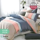 【R.Q.POLO】天絲TENCEL系列 兩用被床包四件組-雙人加大6尺(卡蜜拉)