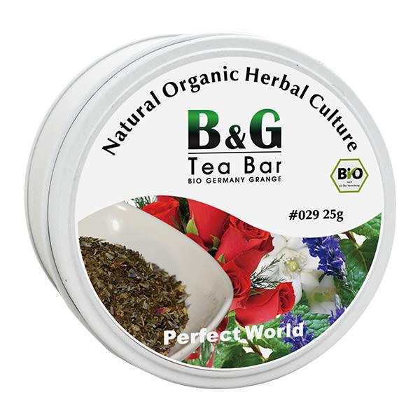 【德國農莊 B&G Tea Bar】 有機晚安花茶 圓鐵罐 (25g)