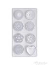 4/8連diy布丁模具 果凍巧克力模具 冰皮月餅制冰格烘焙模具 黛尼時尚精品