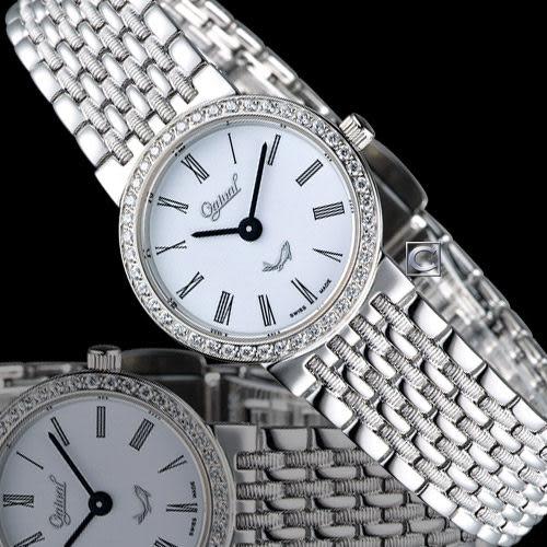 Ogival 愛其華薄型璀璨仕女腕錶 385021DL