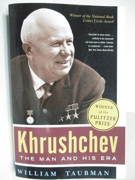 【書寶二手書T7/傳記_EBF】Khrushchev-The Man and his era