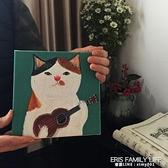 文藝萌畫 彈吉他的貓 小眾藝術裝飾畫現代簡約ins臥室客餐廳掛畫 ATF 艾瑞斯