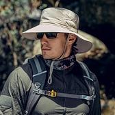 防紫外線戶外遮陽帽釣魚帽子男士大檐帽防曬帽【探索者】