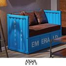 雙人沙發 貨櫃沙發 查克貨櫃雙人沙發(兩色) F183-1 愛莎家居