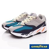 【GOODYEAR】健走復古鞋系列-GAMR93318-灰藍-男段