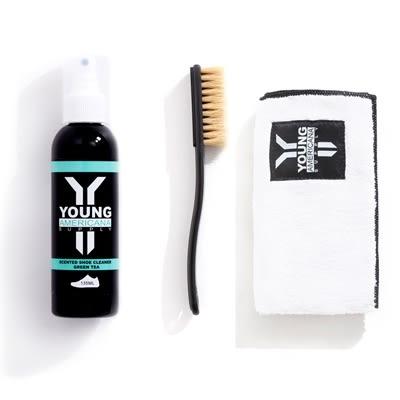 【一加一配件組】Y.A.S 美鞋神器 基本組 - 洗鞋劑 + 擦拭布 (綠茶)