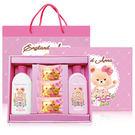 一定要幸福哦~~ 英國貝爾-玫瑰沐浴禮盒,喝茶禮盒,沐浴禮盒,婚俗用品,結婚用品