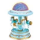 八音盒 旋轉木馬八音盒音樂盒夢幻投影燈光女生浪漫生日禮物兒童玩具【快速出貨八折鉅惠】