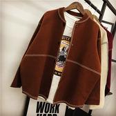 冬季可愛外套女毛衣秋裝正韓學生寬鬆原宿春秋季針織開衫優樂居生活館