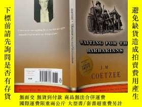 二手書博民逛書店WAITING罕見FOR THE BARBARIANS【英文版,